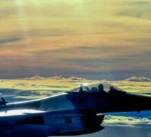 F-16 Fighting Falcon Digital Painting Sticker