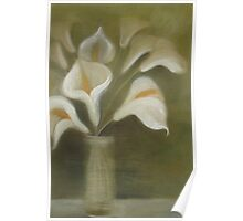 Calla's In A Vase Poster