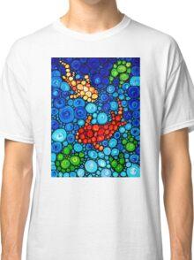 Pure Koi Joi - Colorful Mosaic Art By Sharon Cummings Classic T-Shirt