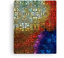 Colorful Stone Rock'd Abstract Art By Sharon Cummings Canvas Print