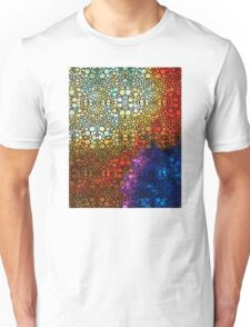 Colorful Stone Rock'd Abstract Art By Sharon Cummings Unisex T-Shirt