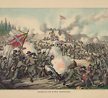 Assault on Fort Sanders Nov. 29, 1863 by Kurz & Allison by allhistory