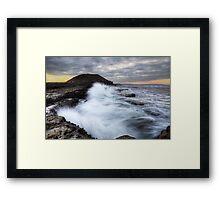 Rough Seas, Filey Framed Print