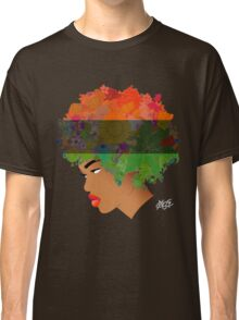 Pan-African Flag Flower 'Fro ver. 3 Classic T-Shirt