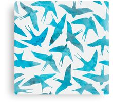 WATER COLOURED BIRDS Canvas Print