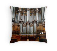 Historic organ Throw Pillow