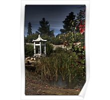 """Chinese Tranquility, in the """"Chinese Garden"""" Beechworth Victoria Poster"""