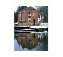Reflections - Kennet and Avon Canal Art Print