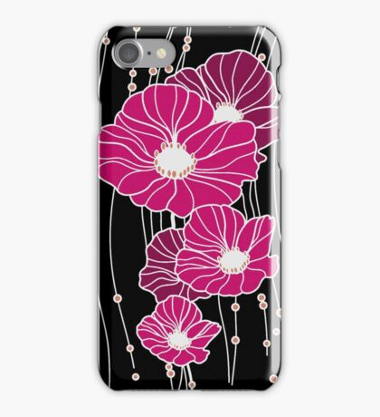 Modern Big Raspberry Flowers  iPhone Case/Skin