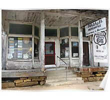 Whitehall Mercantile on Route 66 Poster