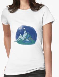 Moon Water Womens Fitted T-Shirt