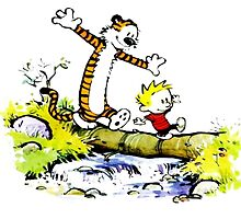 Calvin and hobbes funny time by EsttelArt