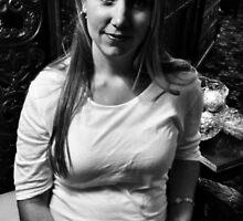 Mona Lisa Smile B/W by Ann Eldridge