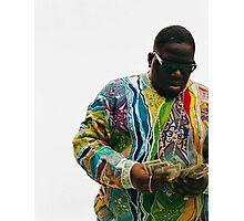 Notorious Big Counting Money Photographic Print