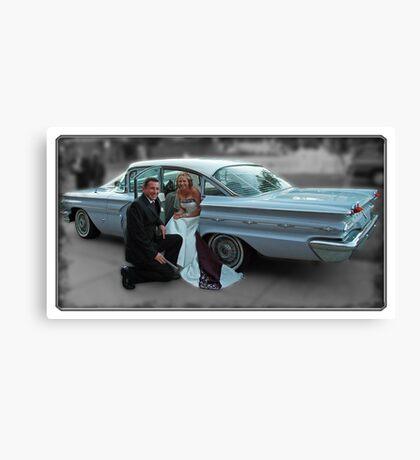 '59 Pontiac Star Chief, The Wedding Car Canvas Print