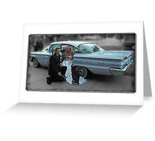 '59 Pontiac Star Chief, The Wedding Car Greeting Card
