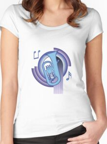 Deco Euphonium (Cool Colors) Women's Fitted Scoop T-Shirt