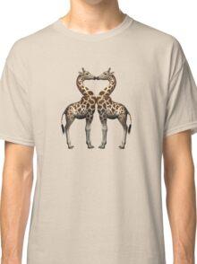 Giraffes In Love Classic T-Shirt