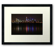 Bright Lights of Perth ~ Western Australia Framed Print