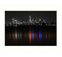 Bright Lights of Perth Art Print