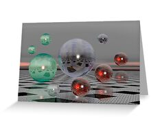 Floating bubbles Greeting Card
