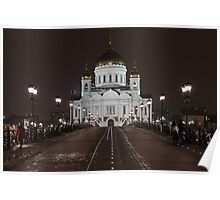 Cathedral of Christ the Saviour, Moscow Poster
