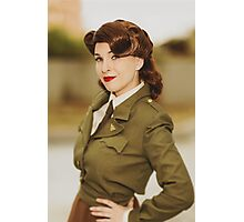 Tanya Wheelock as Peggy Carter (1.1 - Photography by David Skirmont, with Additional Editing by Tascha Dearing) Photographic Print