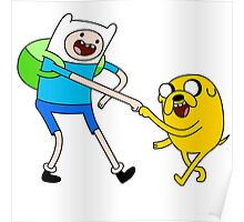 Adventure Time jack and finn Poster