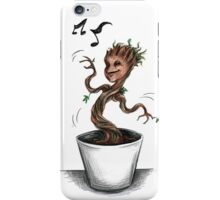 Groot baby groot happy music iPhone Case/Skin