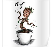Groot baby groot happy music Poster