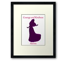 Courage and Kindness - Aurora Framed Print