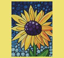 Basking In The Glory - Bright Yellow Sunflower Art By Sharon Cummings Kids Tee