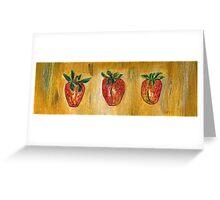 Erdbeeren Greeting Card