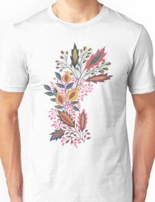 Pomegranate and Flowers Unisex T-Shirt