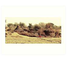 A Village in india. Art Print