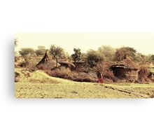 A Village in india. Canvas Print