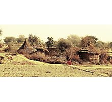 A Village in india. Photographic Print