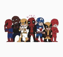 Deadpool & Friends by hellcub