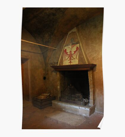 Antique fireplace Poster