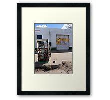 Poplar Montana Campaign Advertisement Framed Print