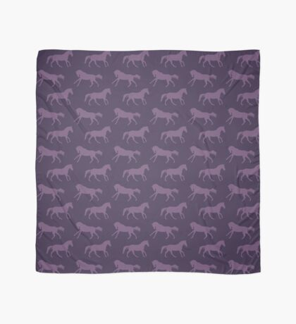 Purple Galloping Horses Pattern Scarf