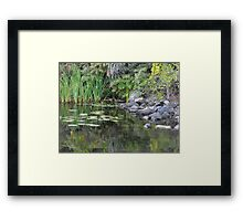 A Tranquil Bay On The Moria River Framed Print