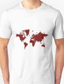 World With No Borders - burgundy T-Shirt