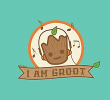 Musical Baby Groot by ridiculouis