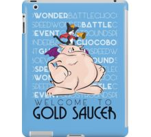 Welcome to Gold Saucer iPad Case/Skin