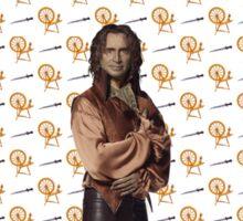 Rumplestiltskin / Mr Gold Dagger and Spinning Wheel Print (OUAT) Sticker
