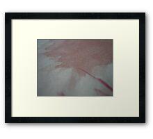 one ruby spike  Framed Print