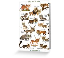 Wild Cats of India Greeting Card