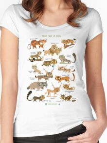 Wild Cats of India Women's Fitted Scoop T-Shirt