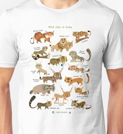 Wild Cats of India Unisex T-Shirt